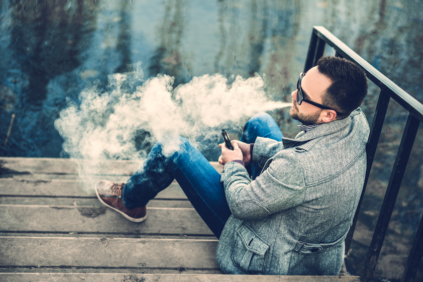 a man vaping image