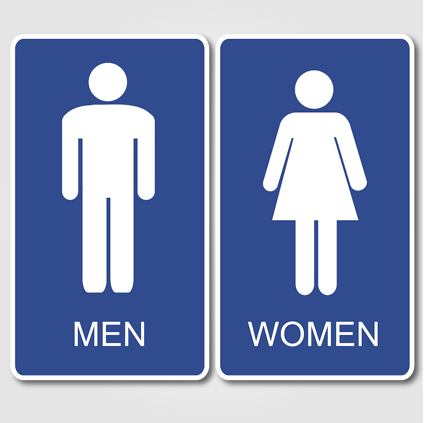 a men women toilet sign