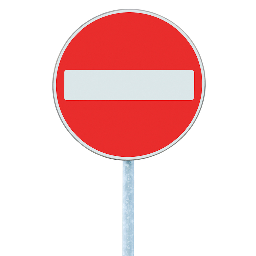 a no entry sign image