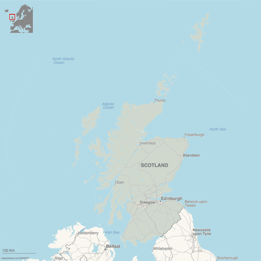a scotland locator map image