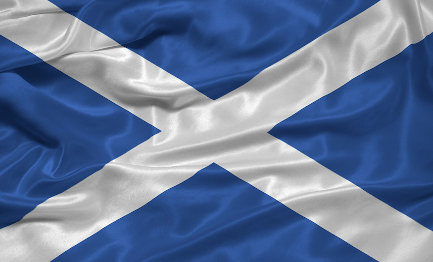a scottish flag image cb
